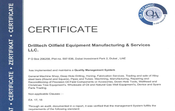 Drilltech Oilfield Equipment Manufacturing & Services